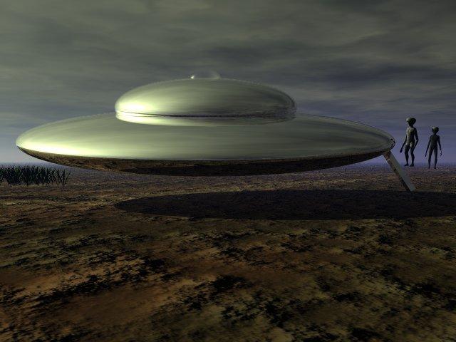 alien landing on earth