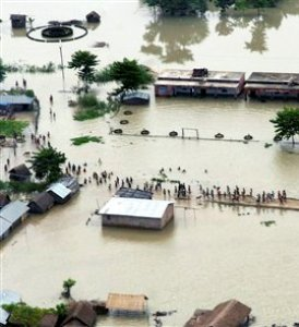 Hundreds of villages flooded in Bihar as rivers rise
