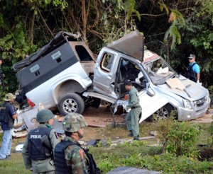 1 killed, 3 injured in bomb explosions in restive S. Thailand