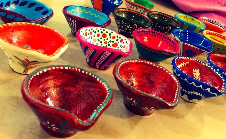 Colourful earthen lamps for Diwali attract people in Bhopal