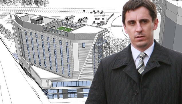 Neville seeking to build 'footie pitch' on top of new Old Trafford hotel!