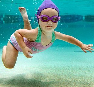 Meet the one-year-old toddler who swims better than fish in water!