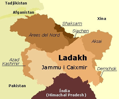 Image result for leh ladakh map