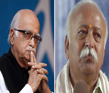 Advani meets RSS chief