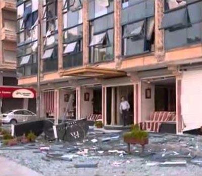 Major blast in Syria destroys hotel, buildings