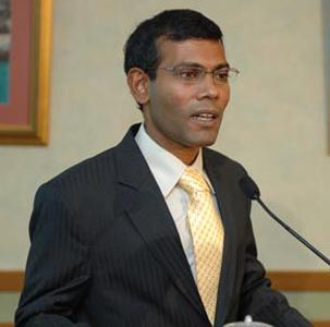 Former Maldivian president Nasheed held in Male