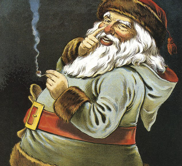 Santa, you don't smoke anymore! Stahp!