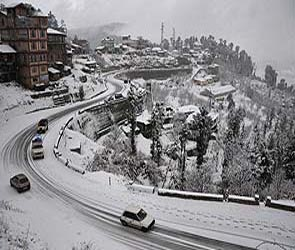 Snow covers Shimla, Manali