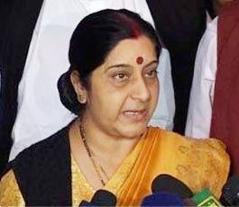 14 parties against FDI, says Sushma Swaraj