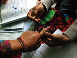 Panchayat members cast vote for Legislative Council seats in Jammu and Kashmir