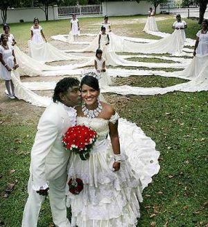 Worlds Longest Train Wedding Dress