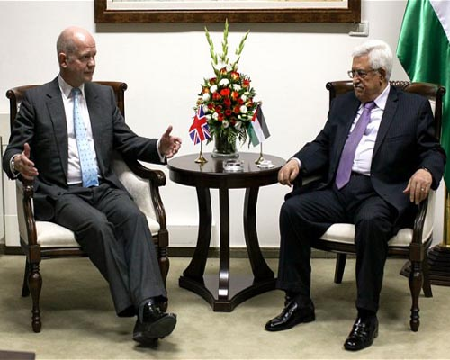 Britain, Palestine favour stable future in Mideast