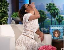 PeeCee downs tequila shot on 'The Ellen DeGeneres Show