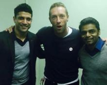Chris Martin gets a 'Rock On' welcome by Farhan Akhtar