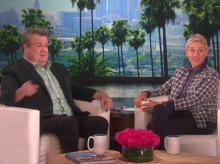 Eric Stonestreet gets caught out by yet another Ellen DeGeneres prank