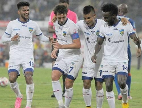 Two first-half goals help Chennaiyin FC register first ISL win