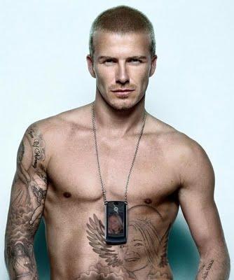 David Beckham Chest Tattoos 2013