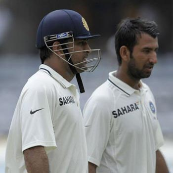 Dhoni, Pujara in ICC Test team