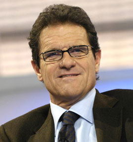 Capello arrives in Moscow