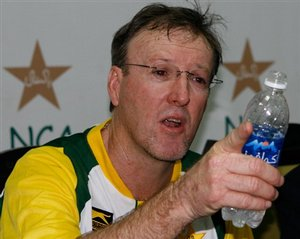 Pakistan cricket team coach and former Australian fast bowler Geoff Lawson
