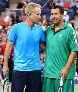 Sandler and McEnroe duel with Courier and James in US Open friendly