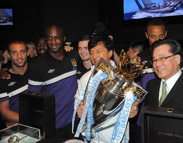 Man City hopes meeting with Jackie Chan would inspire players for more success