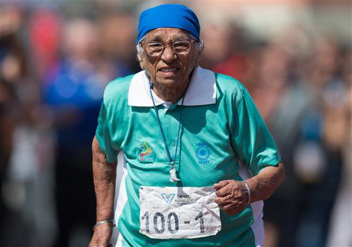 Century-old Indian runner Mann Kaur defies age to win gold at Vancouver track me