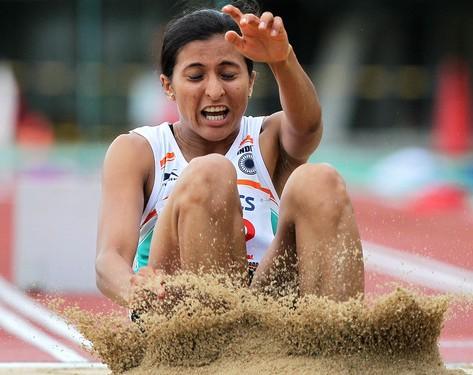 Asian Indoor Athletics: Mayookha Johny wins long jump gold; Dutee Chand settles