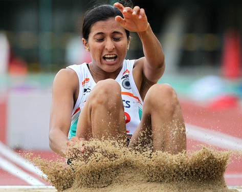Mayookha Johny wins long jump gold; Dutee Chand settles