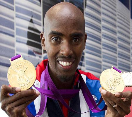 British Olympic track champion Mo Farah