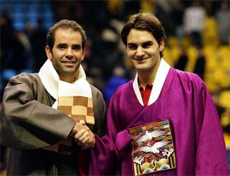 Fellow father Sampras can't see new dad Federer on night nappy duty