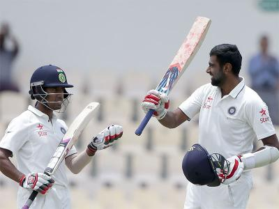 Saha, Ashwin guide India to solid first innings' total in St. Lucia Test