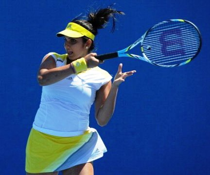 Sania Mirza in Dubai Open final