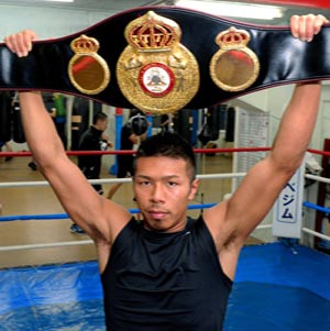 Japanese boxer wins WBA super featherweight title