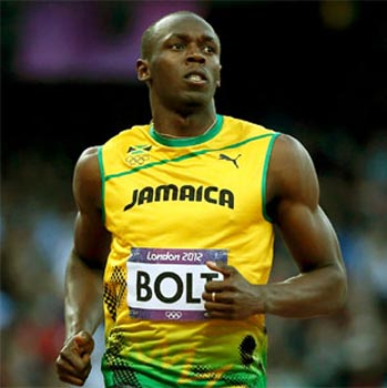 Jamaican sprint superstar Usain Bolt