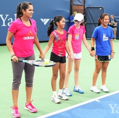 Sania hosts kids in Yale