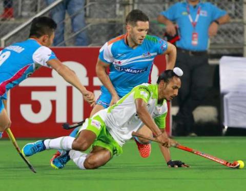 HIL 2017: Uttar Pradesh Wizards hold Delhi Waveriders to 1-1 stalemate