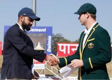Ranchi test: Aus win toss, elect to bat