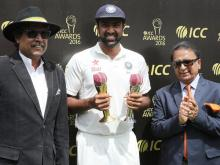 Ashwin receives Sir Garfield Sobers Trophy