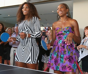 Tennis champs Williams sisters are pros at ping pong too!