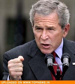 US President George W Bush