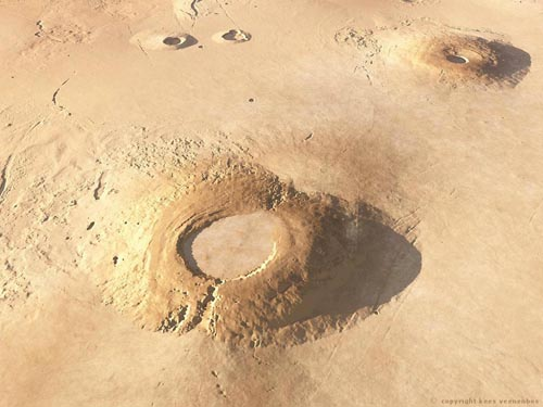 Giant Mars volcano may have harboured life