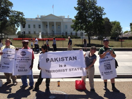 Baloch nationalists protest in front of White House