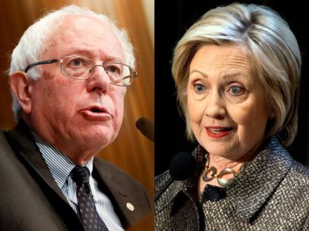Sanders goes after Clinton lead as three states vote
