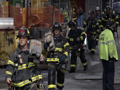 Fire at World Trade Center in New York