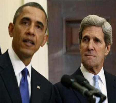 World in turmoil, but not because of Obama, says Kerry