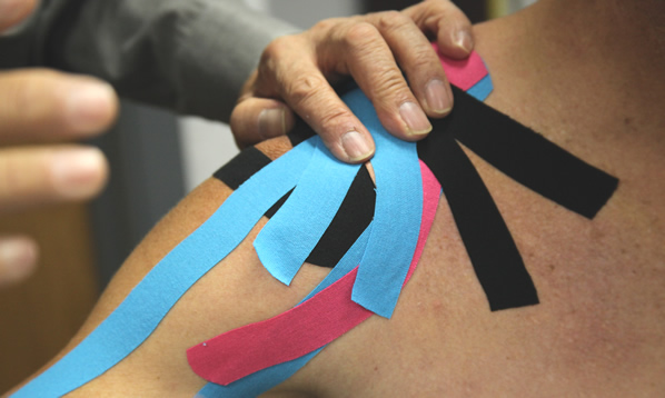 Sticky tape - the new in-thing for injured Olympians