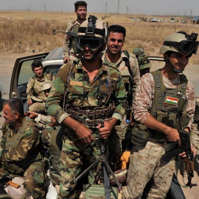 Kurdish forces reclaim 2 Iraqi towns from ISIS