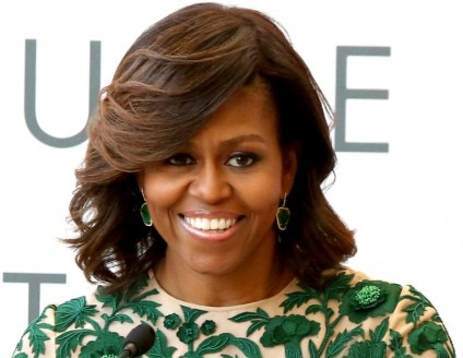 Michelle Obama again flaunts Naeem Khan's creation