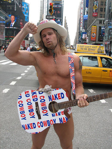 The naked cowboy new york foto 1